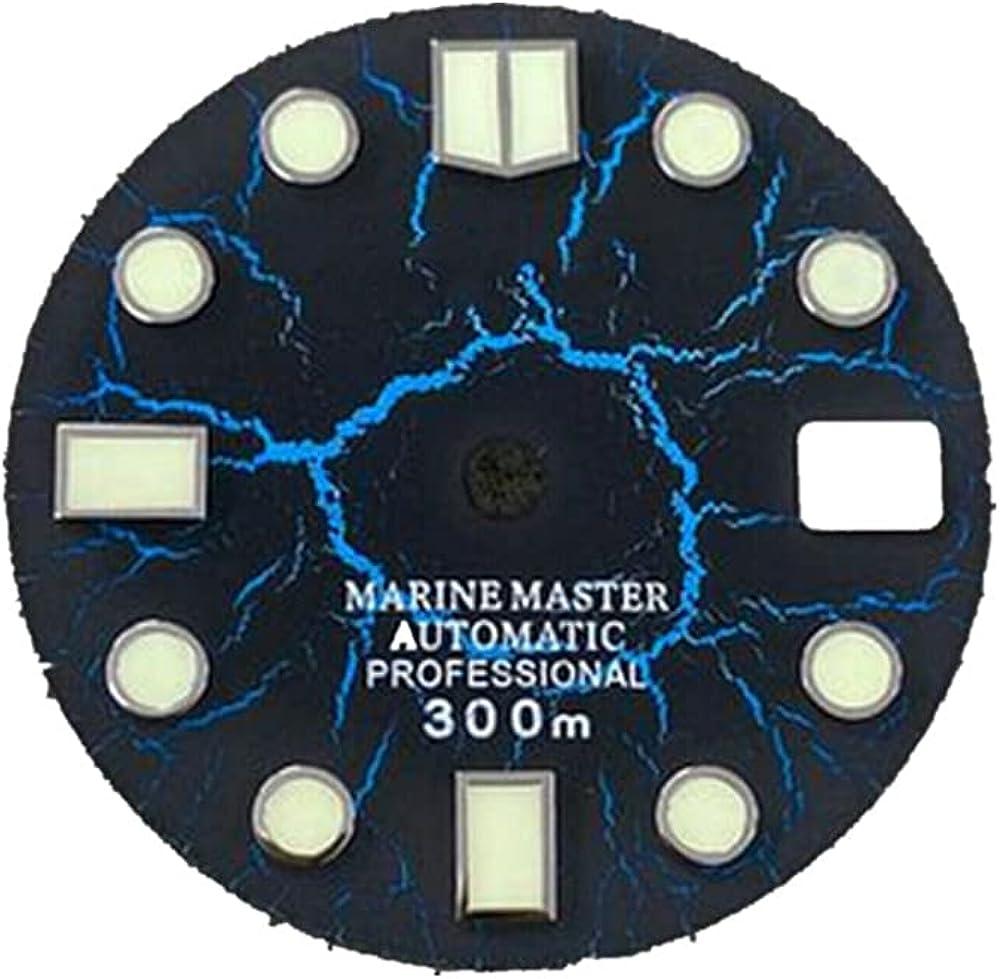 Reemplazo 28.5mm C3 verde luminoso marino Master reloj Dial para SKX007/009 NH35 movimiento actualización DIY piezas de repuesto