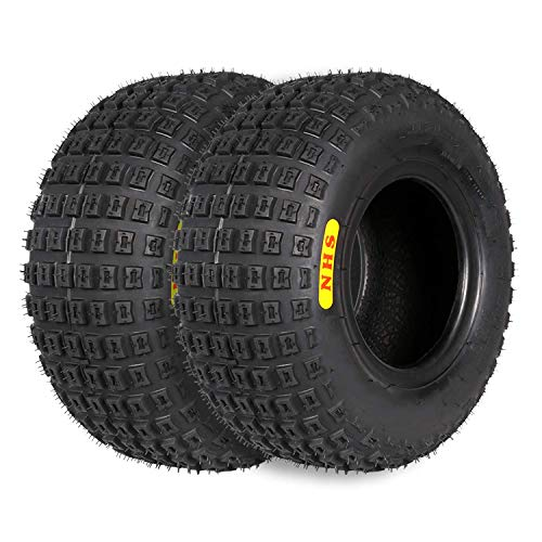 Weize 145/70-6 145/70x6 (14x6-6) ATV Go-Kart knobby Tire, 4PR TL,Maxload LBS 165 , Set of 2
