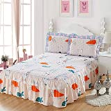 XNSY Baumwolle Bett Rock einzelne Dicke Kissenbezug Bettbezug Spitze Spitze Baumwolle Bettdecke Bettlaken-L_Tagesdecke 200x220cm