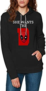 She Wants The D Deadpool - Funny Vintage Trending Awesome Shirt for Deadpool Fans Unisex Style by SMLBOO Hoodie