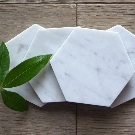 Free Shipping Bianco Gioia Hexagon Marble Coasters. | Etsy