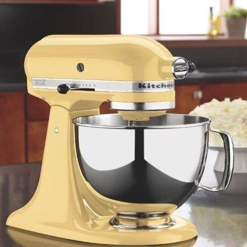 New Majestic Yellow Kitchenaid Stand Mixer Tilt 4.5-quart Ksm85pbmy Metal 10-spd