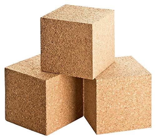 Cubos de corcho   dados de corcho   dados de corcho prensado   10 x 10 x 10 cm   Bloque de corcho   para manualidades   para hobby, bricolaje y bricolaje