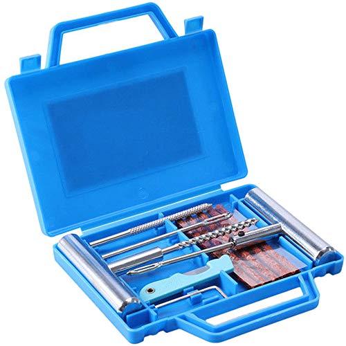Refaxi 11Pcs Kit De Réparation De Pneu Bricolage Pneu Plat Réparation Voiture Camion Moto Plug Patch Box