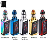 E Cigarettes électroniques Kit Complet SMOK MORPH 219W Kit TC avec réservoir TF 6 ml et 1.9 '' Écran tactile HD coloré grande vape cloud sans pile ni nicotine (Black Blue)