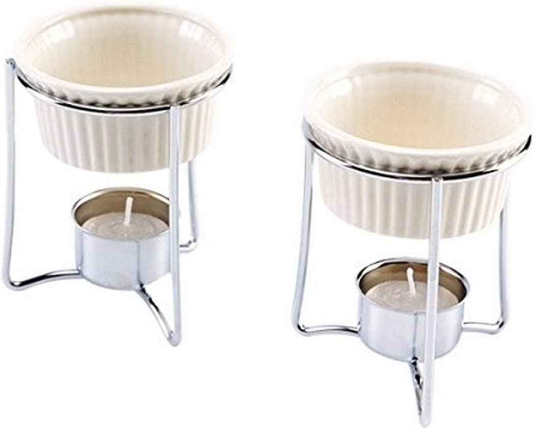 Amazon Com Norpro Butter Warmers Set Of 2 1 Ea White Butter Warmers For Lobster Kitchen Dining