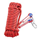 Syiswei Static Rock Climbing Rope 12MM, Outdoor Safety Fire Escape...