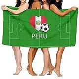 Toallas de baño Love Peru SoccerToallas de baño absorbentes súper Suaves y agradables para la Piel 80x130cm