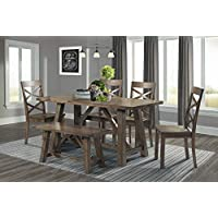 6-Pieces Picket House Furnishings Regan Dining Table Set