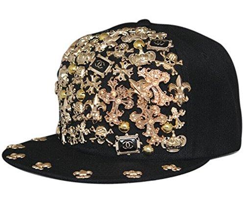 Zerci Hip-hop Spikes Spiky Remaches tachonado Botón Leopard Gorra ajustable Snapback (Estilo 6) (Ropa)