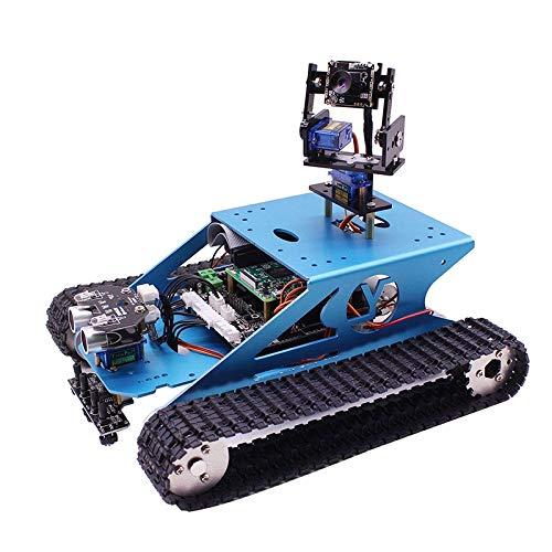 TOOGOO Smart Tank Roboter Kit WiFi Drahtlose Video Programmierung Elektronische Spielzeug DIY Robot Kit für Raspberry 4B / 3B + (Ohne für Raspberry Pi)