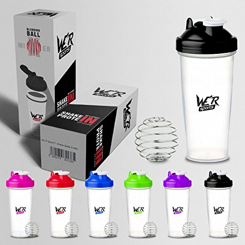 We R Sports Shaker Bottle Protein Shaker Cup Bottle for Protein Shakes 600ml To 700ml Black (Black)