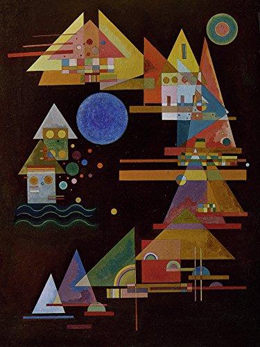 Artland Alte Meister Kunst Wandtattoo Bauhaus Wassily Kandinsky Wandbilder Klebefolie Spitzen im Bogen 120 x 90 cm Kunstdruck Deko Art R0OL
