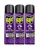 Raid Flea Killer Carpet and Room Spray 16 Ounce (Pack of 3)