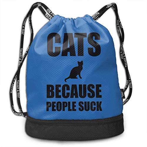 Adetad Rucksack mit Kordelzug für Katzen und Menschen