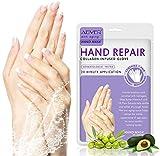 4 Paia Maschera Per Le Mani,Guanti Idratanti per la Cura delle,Nutriente Idratante Esfoliante mani per crepe secche Maschera per le mani Pelle per donne e uomini