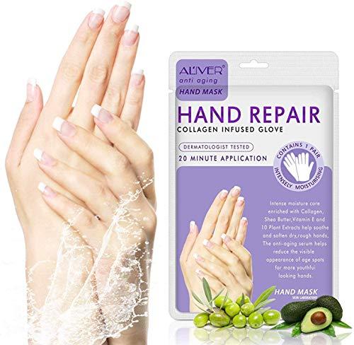 4 Pack Hands Moisturizing Gloves, Hand Spa Mask Infused Collagen, Serum +...
