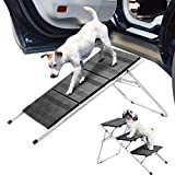 Enjoyyouselves Folding Car Steps for Dogs, Nonslip 3-Steps Pet Steps for Small