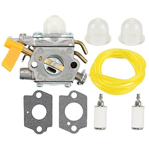Harbot 308054043 Carburetor with Fuel Line Filter for Ryobi RY28000 RY28005 RY28025 RY28020 CS26 RY28021 RY28040 SS26 RY28041 RY28045 26CC Trimmer RY28060 RY28065 Brushcutter 308054034 308054028