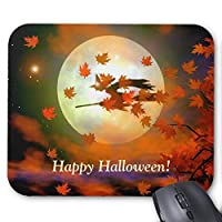 UOOPOO Halloween Witch Flightマウスパッド傷を防ぐのに便利だ長方形滑り止めラバーパーソナライズマウスパッド傷を防ぐのに便利だゲーミングマウスパッド傷を防ぐのに便利だ