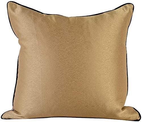 AWAING Fundas de Cojines Metálico Decorativo Almohada Almohada Caso Sofá Throw Cushion Estilo For La Sala De Estar Sofá 18X18 Pulgadas 45cm X 45cm De Oro De Brown Geométrico Cojín Rectangulares 1116