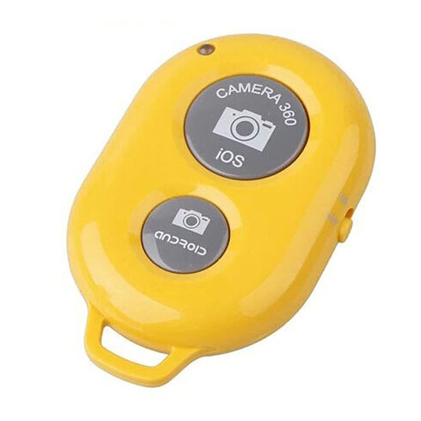 GrmeisLemc Wireless Bluetooth Camera Remote Control Selfie Shutter for Mobile Phone Monopod Yellow