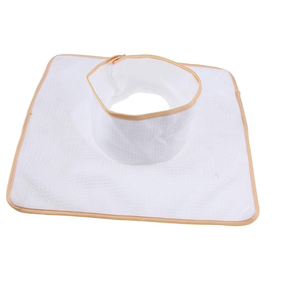 予報眉合意FLAMEER マッサージベッド サロンテーブル シート パッド 頭の穴 洗濯可能 約35×35cm 全3色 - 白