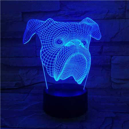 jiushixw 3D acryl nachtlampje met afstandsbediening van kleur veranderende tafellamp met routing Page Lamp Dimmer