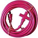 十字型マルチタップ延長コード 5m屋内型 ピンク