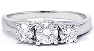 Best 1 carat three stone diamond ring Reviews