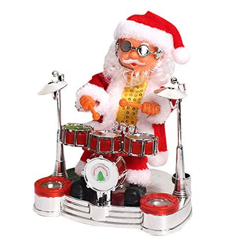 Neu Weihnachtsmann singend tanzend Santa Claus animierter Nikolaus Weihnachten Deko-Figur 20 cm...