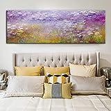Impresión en lienzo Monet Nenúfares Reproducciones de pinturas al óleo Láminas de arte Obras de arte famosas de Monet Cuadros de pared Dormitorio 70x210cm (28x83in)Con marco