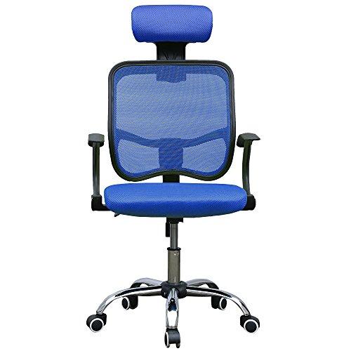 Panana Ergonomic Office Chair, High-Back Desk Chair Reclining Computer Chair Breathable Mesh, Adjustable Seat & Headrest (Blue)
