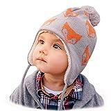 JAN & JUL Baby Toddler Kids Fall Winter Ear-Flap Beanie Hat (M: 6-24 Months, Fox)