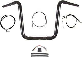 "Hill Country Customs 1 1/4"" Gloss Black Narrow 14"" Ape Hanger Handlebar Kit 1990-1995 Harley-Davidson Softail - BC-HC-11414GBN-ST95-BC"