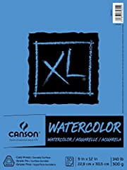 Cold press textured paper Recommended for use with watercolor, acrylic, pen & ink, marker, colored pencil, pencil, charcoal, and pastel Durable surface withstands repeated washes Acid free. Natural white color and texture Also available in 11 inches ...