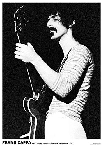 Close Up Frank Zappa Poster (59,5cm x 84cm) + 1 Traumstrand Poster Insel Bora Bora zusätzlich