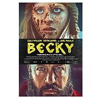 ベッキー映画ルルビルソンケビンジェームズポスタープリントアートワークギフト壁アートキャンバス絵画リビングルーム寝室の装飾家の装飾-50x75CMフレームなし