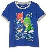 PJ Masks Jungen 7005 T-Shirt, Dunkelblau, 104