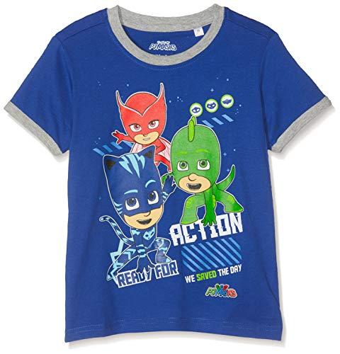 PJ Masks Jungen 7005 T-Shirt, Dunkelblau, 116