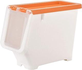 Paniers de Rangement Boîte de rangement empilable ouverte sur le côté / Boîte de rangement pour la maison à bascule en pla...