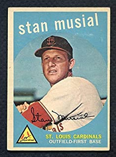 1959 Topps #150 Stan Musial Cardinals EX 372237 Kit Young Cards