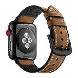 KZKR Uhrenarmband fr Apple Watch Kalb Leder Silikon Armband Uhr Ersatzband Uhrenarmbnder mit...