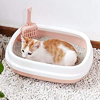 Pet Grooming Trimmer Kit for Long Short Hair for C B22210 Semi-Enclosed Detachable Pet Litter Box with Cat Litter(Small Blue) Cute and Pretty Pet Care SHENGKALAN (Color : Large Pink)
