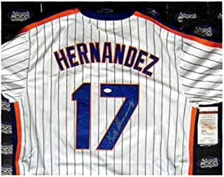 Keith Hernandez autographed Jersey (New York Mets 1986 baseball World Series Champion) Home Size XL JSA Authentication Certification