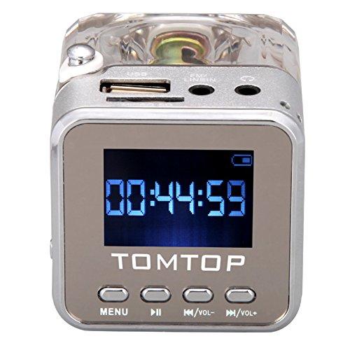 Andoer Digitales tragbares Mini-Musikabspielgerät, MP3/4-Player, MicroSD/TF, USB, UKW-Radio, Audioeingang