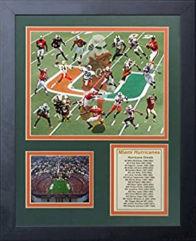 Legends Never Die Miami Hurricanes Greats Framed Photo Collage 11 by 14-Inch
