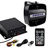 DORRALE Car/Truck Police Siren 100W DS7300 Wireless Amplifier with Black Meter Ultra Slime Flat Speaker,DC12V,Multi-Tones,Two Lights Control,Emergency Electronic Siren Signal PA System