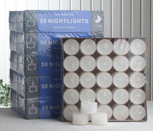 CandleCorner CC-Gastropack 300 Teelichter-Nightlights, transp. Hülle, 7-8 Std
