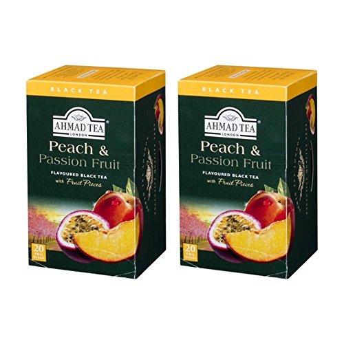 Ahmad Tea of London Peach & Passion Fruit Tea Bags 20's Box (Pack of 2)